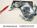 disassembly smartphone and... | Shutterstock . vector #1182212125