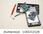 disassembly smartphone and... | Shutterstock . vector #1182212128