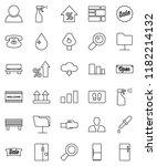 thin line vector icon set  ... | Shutterstock .eps vector #1182214132