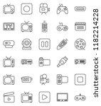 thin line vector icon set  ... | Shutterstock .eps vector #1182214228