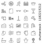 thin line vector icon set   mop ... | Shutterstock .eps vector #1182215212