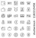 thin line vector icon set  ...   Shutterstock .eps vector #1182215458