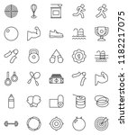 thin line vector icon set  ... | Shutterstock .eps vector #1182217075