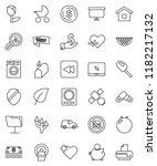 thin line vector icon set  ... | Shutterstock .eps vector #1182217132