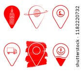 geolocation icon pack. set of... | Shutterstock .eps vector #1182220732