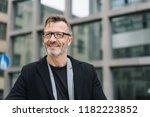 street portrait of cheerful... | Shutterstock . vector #1182223852