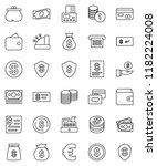 thin line vector icon set  ...   Shutterstock .eps vector #1182224008