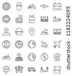 thin line vector icon set  ... | Shutterstock .eps vector #1182224095