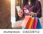 consumerism  shopping ... | Shutterstock . vector #1182228712