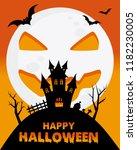 happy halloween poster. space... | Shutterstock .eps vector #1182230005
