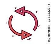 arrow circle rotate icon vector ...