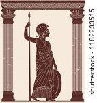 ancient greek goddess of war... | Shutterstock .eps vector #1182233515
