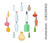 different bottles icons set....   Shutterstock . vector #1182234322