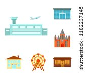 building and architecture... | Shutterstock .eps vector #1182237145