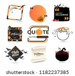 vector set of halloween... | Shutterstock .eps vector #1182237385
