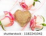 Decorative Burlap Heart With...