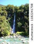 thunder  creek falls haast... | Shutterstock . vector #1182241708