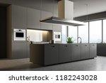 interior of minimalistic... | Shutterstock . vector #1182243028