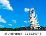 statue of Shiva at wat plai laem in Koh Samui island, Thailand - stock photo