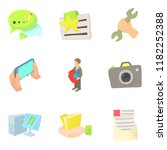 working atmosphere icons set.... | Shutterstock . vector #1182252388