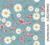 cute seamless pattern with... | Shutterstock .eps vector #1182258442