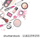 cosmetics set  hand drawn style ... | Shutterstock .eps vector #1182259255