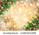 christmas garland in rich... | Shutterstock .eps vector #1182261208