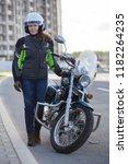 full length portrait of female... | Shutterstock . vector #1182264235