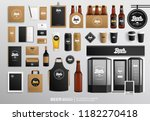 beer shop and restaurant fa ade ... | Shutterstock .eps vector #1182270418