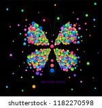 butterly idea on the black... | Shutterstock .eps vector #1182270598