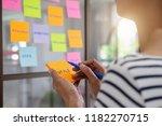 web designer brainstorming for... | Shutterstock . vector #1182270715