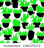 creative seamless pattern with... | Shutterstock .eps vector #1182273172