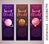 sweet planets banners set.... | Shutterstock .eps vector #1182286795