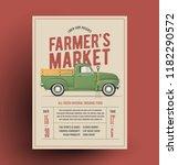 farmers market flyer poster... | Shutterstock .eps vector #1182290572