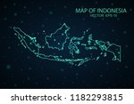 map indonesia. wire frame 3d... | Shutterstock .eps vector #1182293815