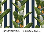 seamless tropical pattern... | Shutterstock . vector #1182295618