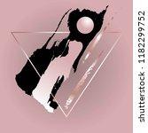 thin rose gold triangular frame ... | Shutterstock .eps vector #1182299752