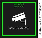 security camera sketch vector... | Shutterstock .eps vector #1182305662