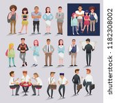vector illustration set of... | Shutterstock .eps vector #1182308002
