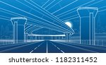 city architecture and... | Shutterstock .eps vector #1182311452
