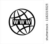 web icon  www icon vector art...   Shutterstock .eps vector #1182315025