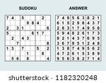 vector sudoku with answer 176.... | Shutterstock .eps vector #1182320248