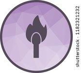 lit matchstick icon | Shutterstock .eps vector #1182321232