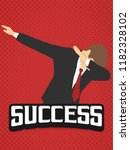 success businessman dab dabbing ... | Shutterstock .eps vector #1182328102