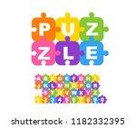 vector of modern bold font... | Shutterstock .eps vector #1182332395