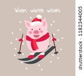 vector illustration  happy new... | Shutterstock .eps vector #1182344005