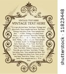 vintage frame   Shutterstock .eps vector #11823448