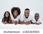 portrait of parents and kids... | Shutterstock . vector #1182365002