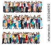 vector  isolated  set  flat... | Shutterstock .eps vector #1182368092