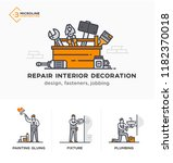 builders  design  fasteners ... | Shutterstock .eps vector #1182370018